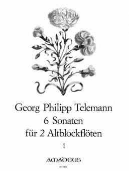 6 Sonaten für zwei Altblockflöten ohne Bass Band 1