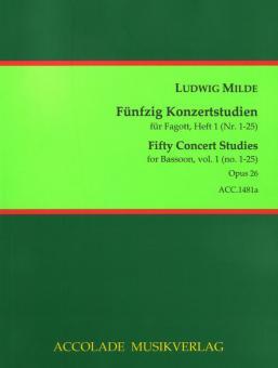 50 Concert Studies op. 26 - Volume 1 (no. 1-25)