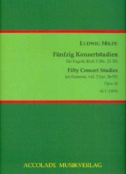 50 Konzertstudien op. 26 - Heft 2 (Nr. 26-50)