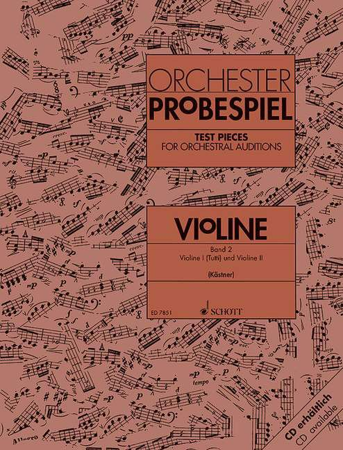 Test Pieces For Orchestral Auditions Violin Vol. 2