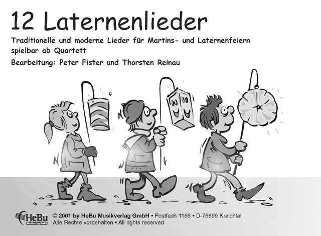 12 Laternenlieder - Partitur