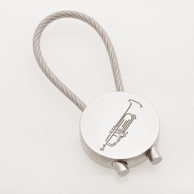 Schlüsselanhänger Trompete (rund)