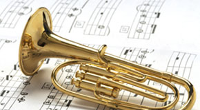 Sheet music for baritone and tenor horns