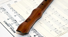 Sheet music for the recorder