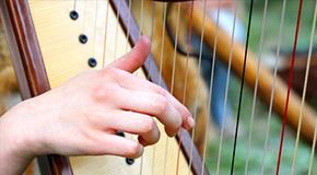 Sheet music for the harp
