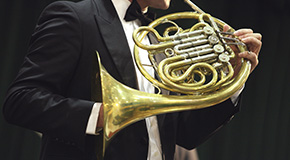 Sheet music for the horn