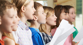 Sheet music for children's choirs