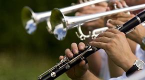 Sheet music for mixed brass ensemble